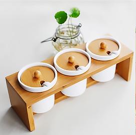 简约陶瓷调味罐